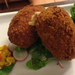 Marinated pork croquettas