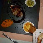 thon mi cuit et escalope e foie gras