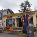 The fabulous frontage of Mojo's, ready for Halloween