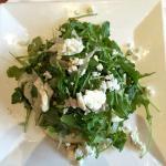 wild arugula, pear, and blue cheese salad