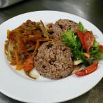 Rice & Peas with Escovitch Fish
