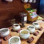 Part of tea corner in the hall
