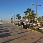 Mona Beach Restaurant area at Sunset