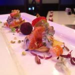 Salmon Sashimi Special with a cream sauce
