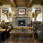 Front Desk, Lobby Fireplace
