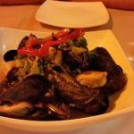PEI mussels with scallion ginger broth....yum!