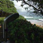 Crashing waves creates zen presence