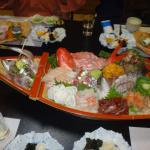 夕食の船盛