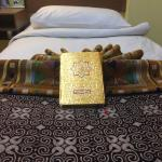 Alquran and Sajadah available on the room