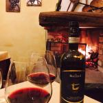 Montepulciano by the fireplace