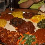 2 plates of veg combo (12 side dishes in all) to share for 4 people