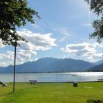 campsite view onto lake maggoire