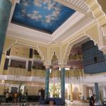 Vue du hall de l'hotel