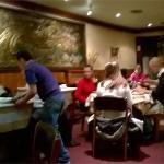 """L'une des deux salles du restaurant """"Le Mandarin"""""""