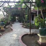 Pathway to hotel villas