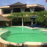 Front view of hotel - pool and reception