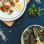 stuffed squid and mussles