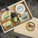 Keepsake Gift Box-Four Hand-made cheeses and a chutney