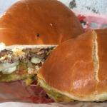 Fresh burger w/ veggies!