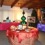 Fireside Lounge Decorated for Silent Auction