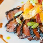 Tamarind Chili Rubbed Muscovy Duck Breast with Shaved Carrot Cumin Salad