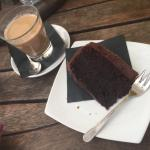 Choc and Beetroot cake, vegan! Not really my thing but glad to try it. COFFEE IS AMAZING!