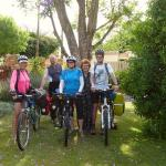 Our group of cycle tourers at Hein's Cottage