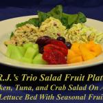 RJ's Trio Salad Fruit Plate