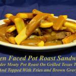 Open Faced Pot Roast Sandwich