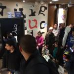 Crowded ordering area/doorway at McDonalds on 6th Avenue
