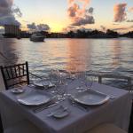 Waterside dining area