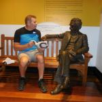 A visit with Mark Twain at Masterworks Museum!