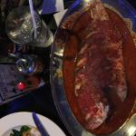 Whole Fish Red Snapper with tomato sauce
