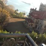 Vista desde el balcon de la habitacion, y al frente, el Palacio de la Magdalena