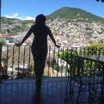 Vista de Taxco, desde terraza del Hotel