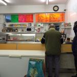 Inside Whitleigh Green fish and chip shop.