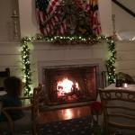 Dining room's blazing fire