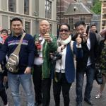 With my new friends from everywhere at Amsterdam