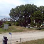 Bentonsport bridge and Des Moines River