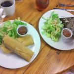 chicken & pork tamales at left; Nicaraguan tamale on right