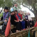La Chaine des Rotisseurs on a donkey cart trip to see the ostriches