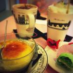 creme brule - hot chocolate