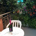 terrasse privée et fleurie