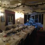 Dining room set up for our Christmas meal
