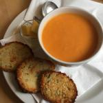 Swwet potato coconut and red pepper soup