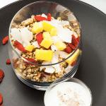 Greek yogurt with granola & fruits