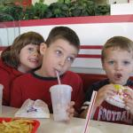 Cousins having re-union at In-N-Out