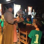 Learning about cooking in the 1800s
