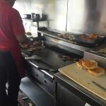 Grilling the chicharron