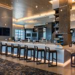 Panorama on Seven Bar offers water view dining at Buffalo Marriott HARBORCENTER.